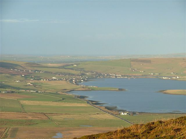 Finstown from Wideford Hill