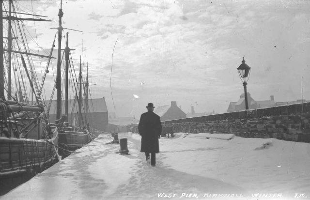 West Pier under snow