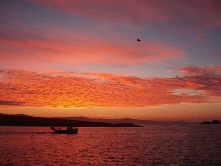 Sunrise in Stromness