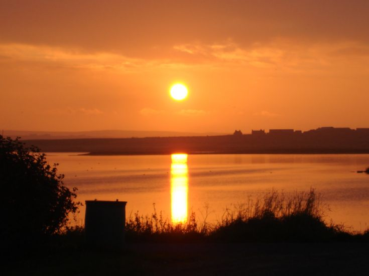 Sunset over Harray Loch