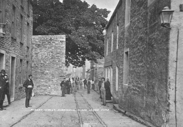 Albert Street, Kirkwall, in the olden time