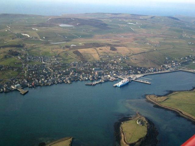 Aerial view of Stromness 2004