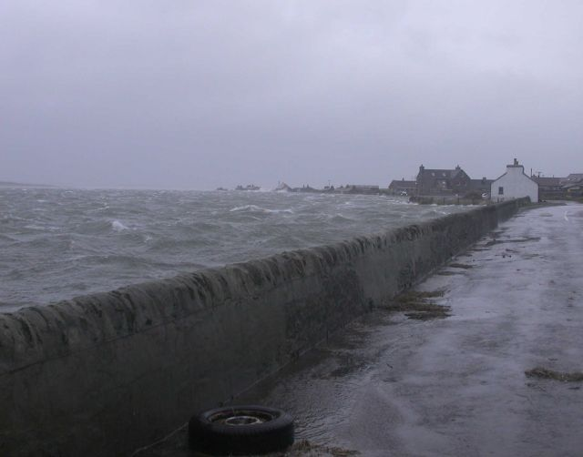 Westray after January's storm, 2