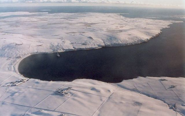 Aerial view of Scapa