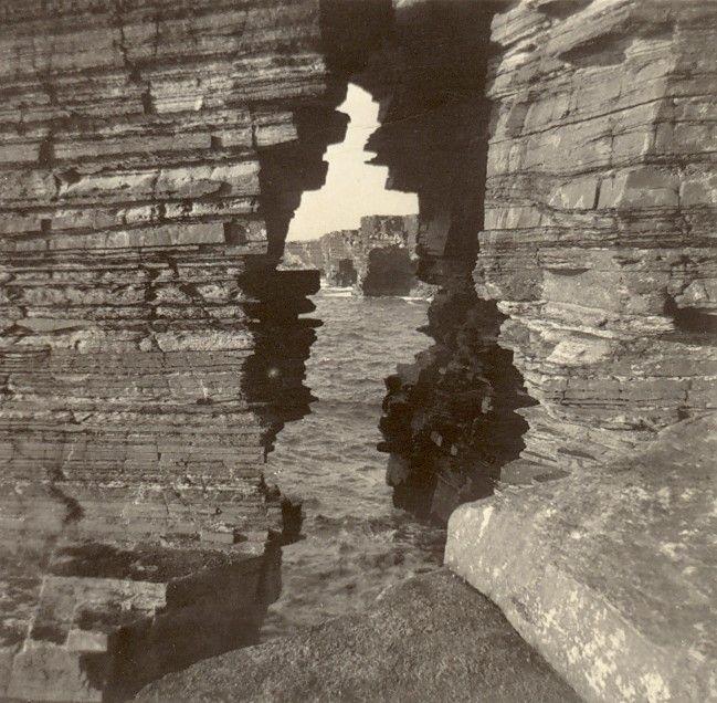 Cliff Scene taken in Westray -1960