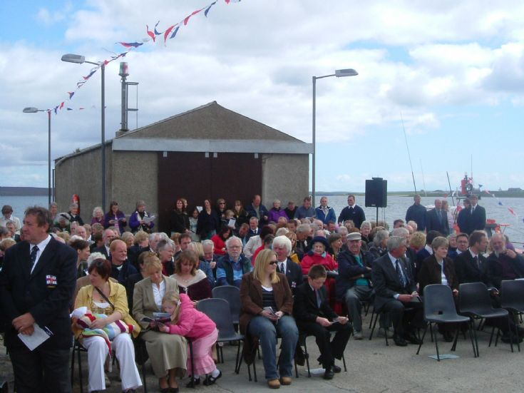Longhope lifeboat Helen Comrie naming ceremony