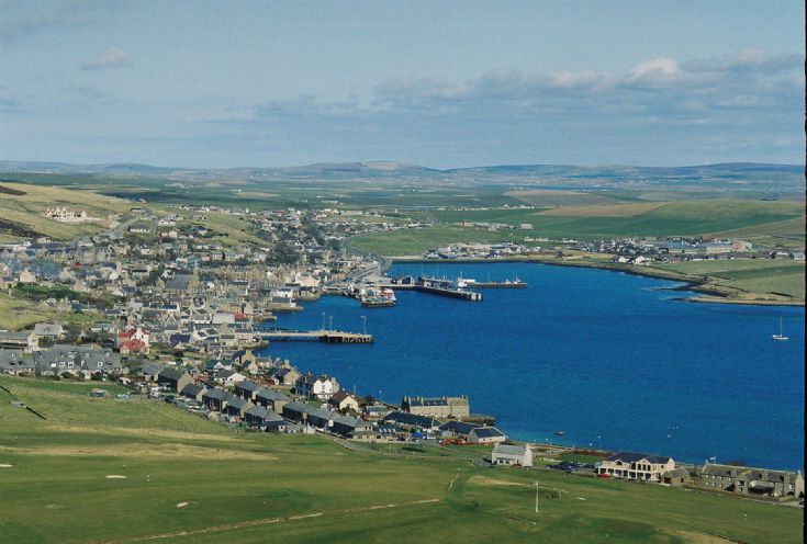 Stromness from the air...