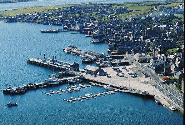 Stromness harbour from the air...