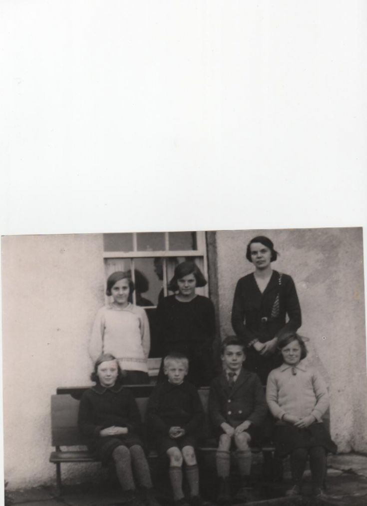 Pupils at the Hoy School