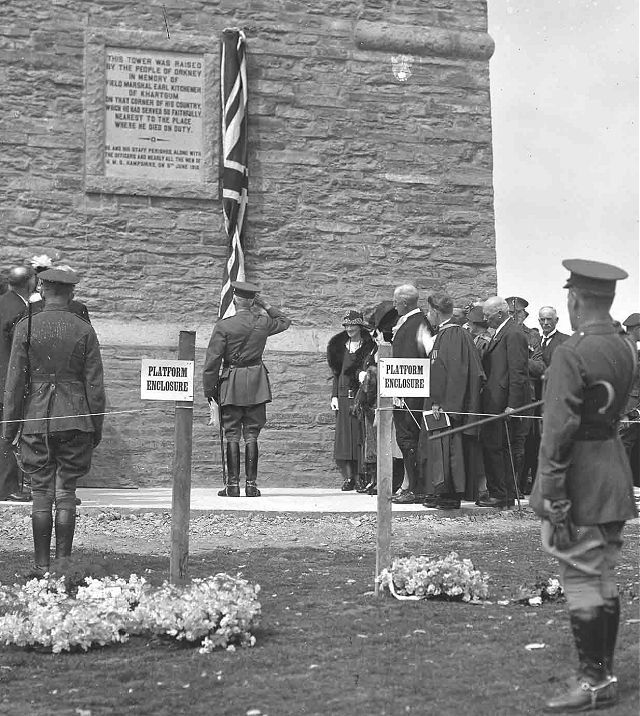 Unveiling of Kitchener Memorial