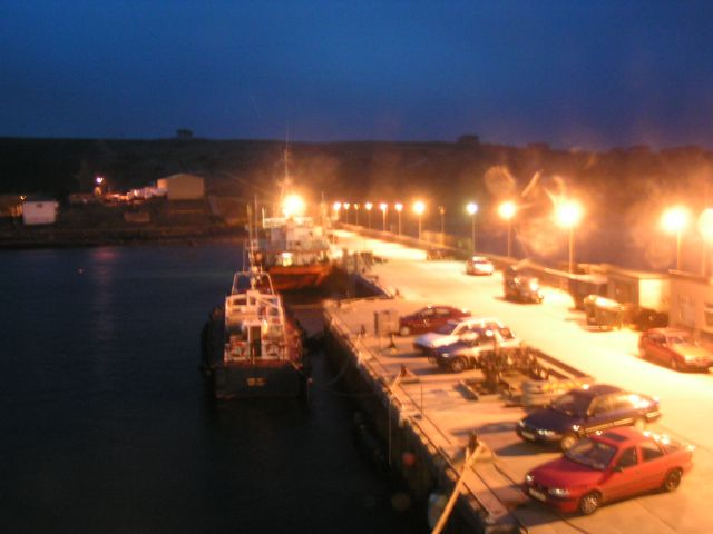 Scapa Pier at night