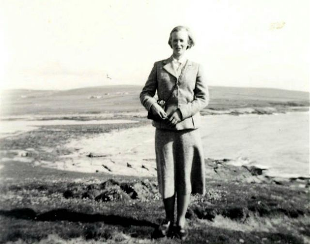 Fay Scarth, about 1955, in Orkney