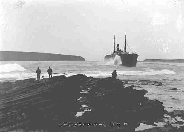 SS Borg ashore in Bisray Bay 5-7-31