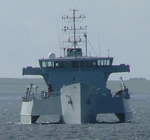 RV Triton in Westray Firth