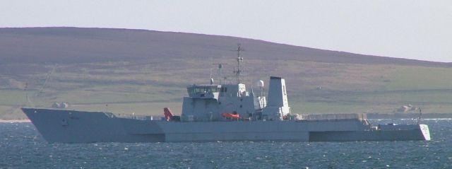 RV Triton in Westray Firth