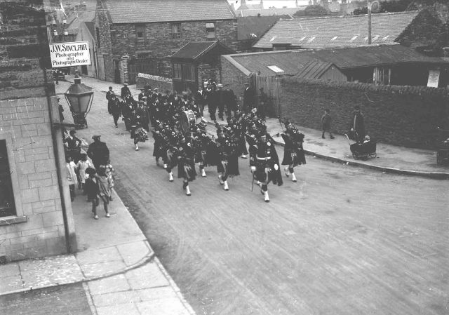 Kirkwall City Pipe Band in Junction Road