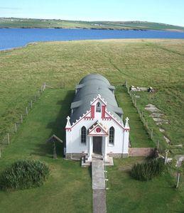 Italian Chapel from my kite mounted camera