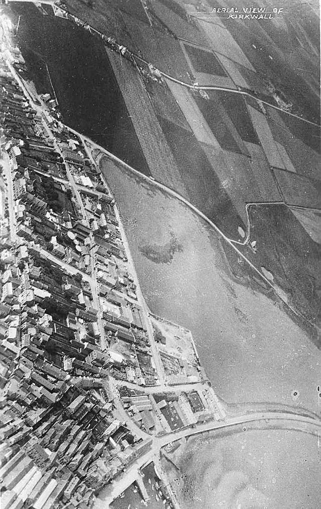 Aerial view of Kirkwall looking west, 1931