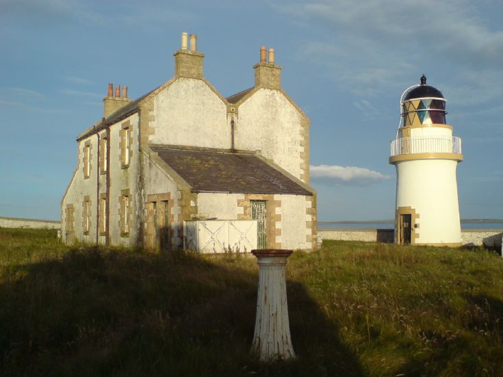 Helliar Holm lighthouse.