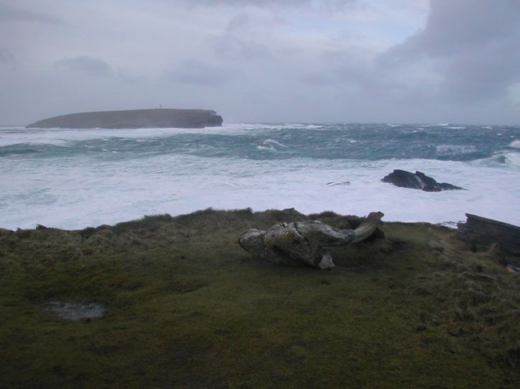 The Brough of Birsay in winter