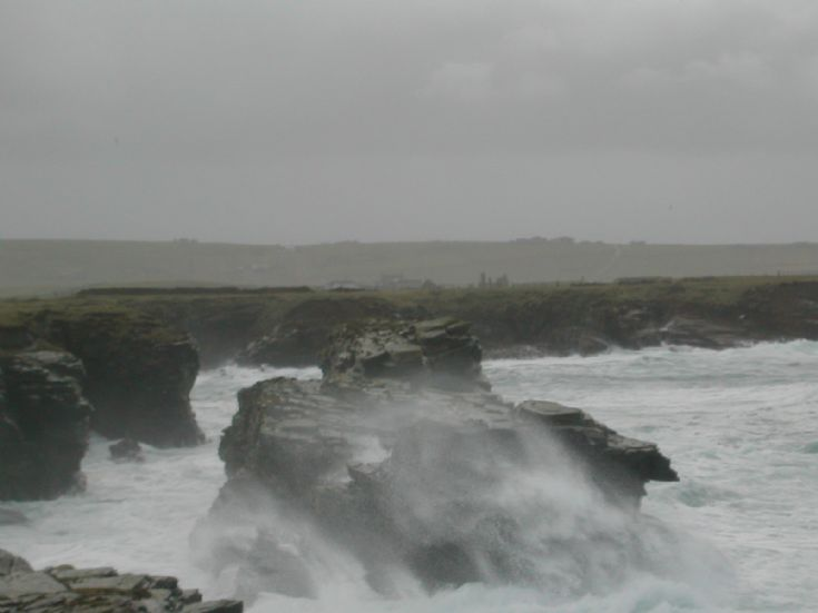A coorse day near Skibbagoe Birsay