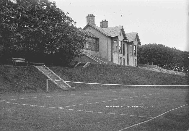 Berstane House tennis court