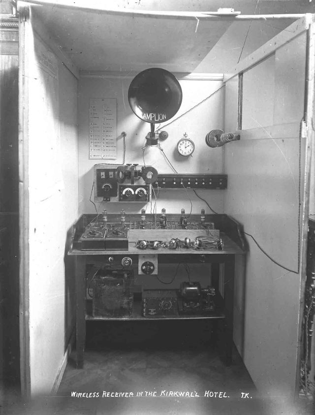 First radio transmitter built in Orkney