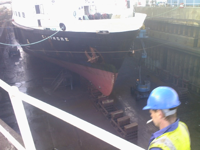 MV Claymore before being painted