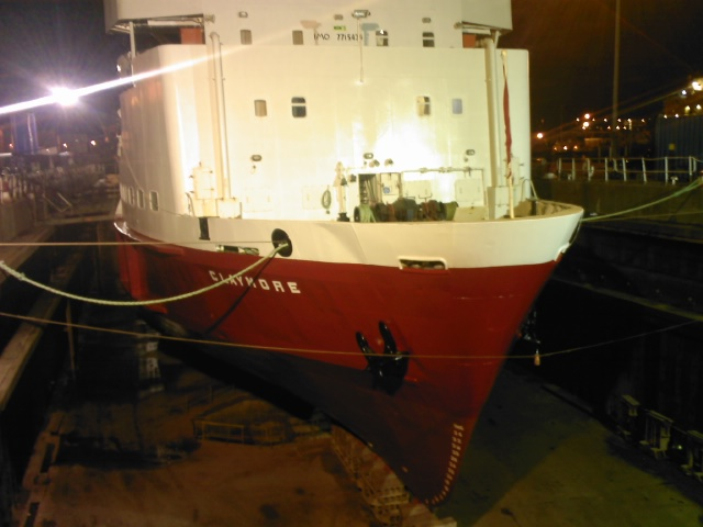 MV Claymore after her paint job