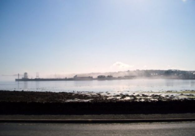 Kirkwall Pier in the haze