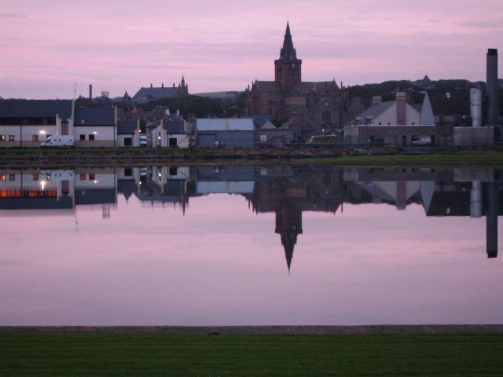 Kirkwall at sunset