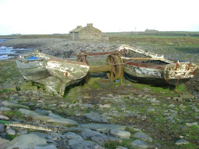 Abandoned (?) boats, North Ronaldsay