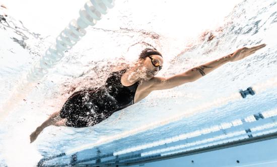 Test de combinaison  de compétition natation
