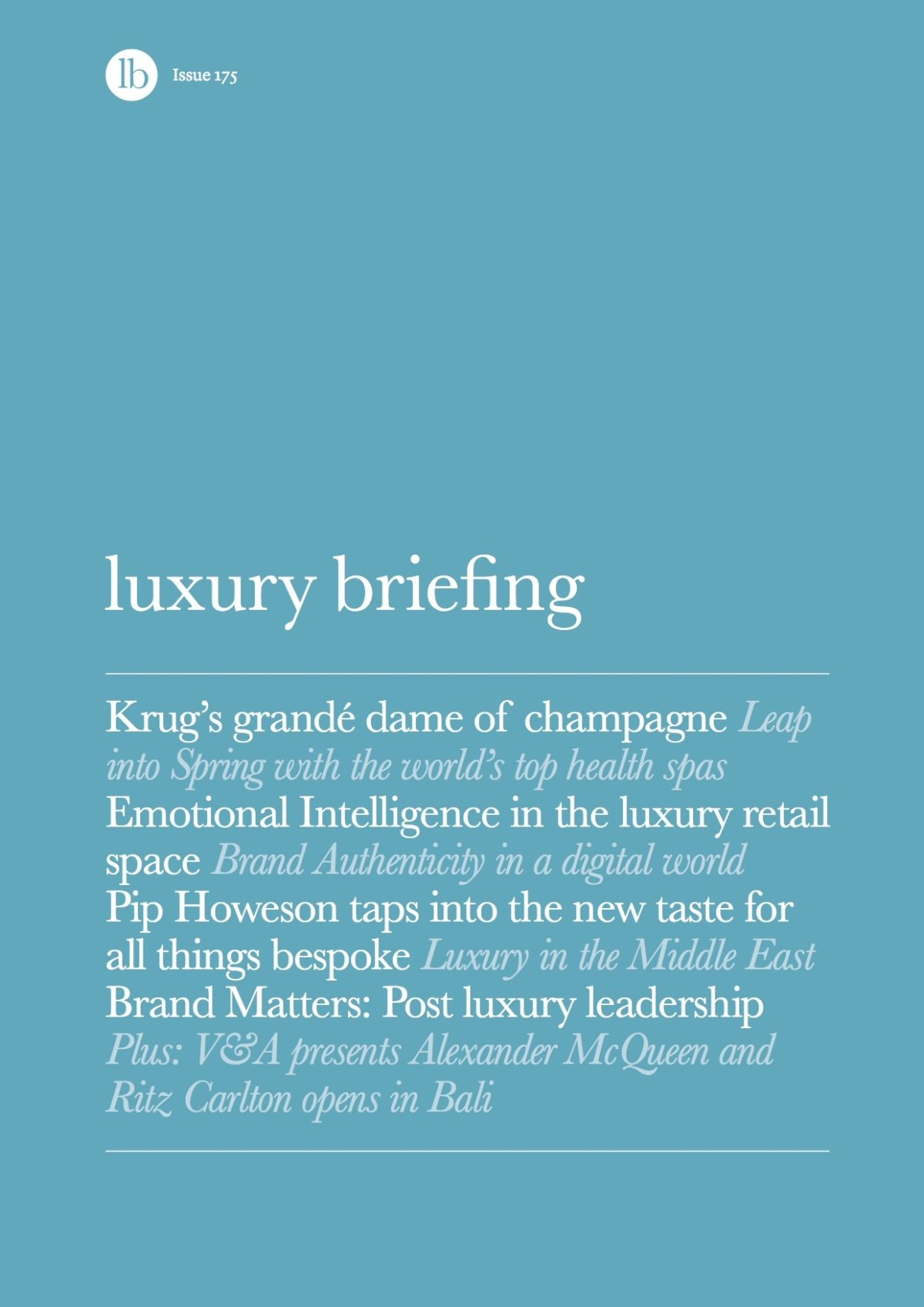 Luxury Briefing 175 Cover