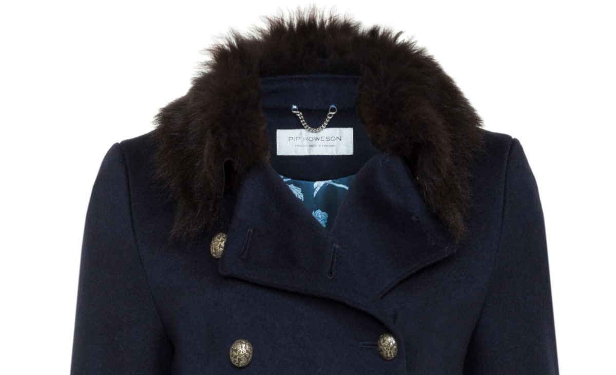 Pip Howeson Margot Coat Neck Detail