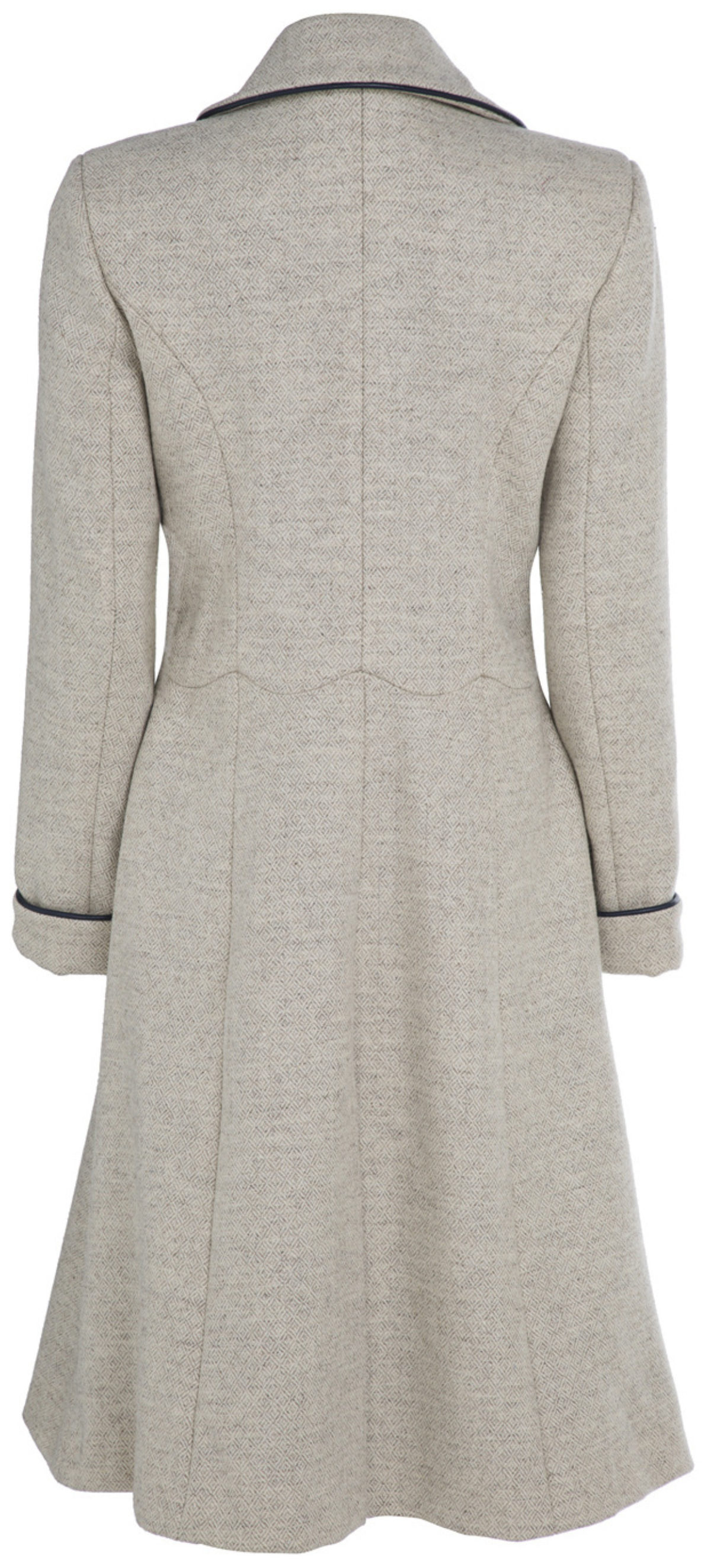 Pip Howeson Scallop Coat Back