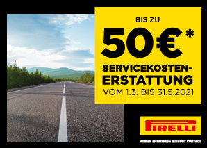 BIS ZU 50 € SERVICE-CASHBACK!