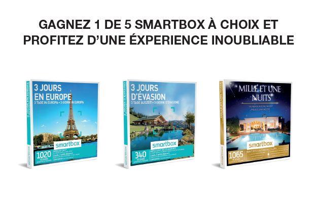 Grand concours pour gagner une Smartbox