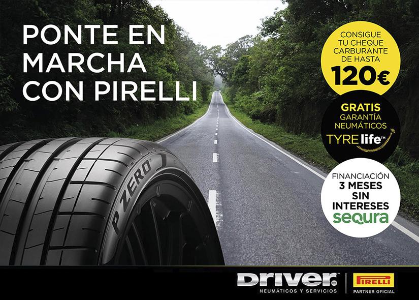 Ponte en marcha con Pirelli