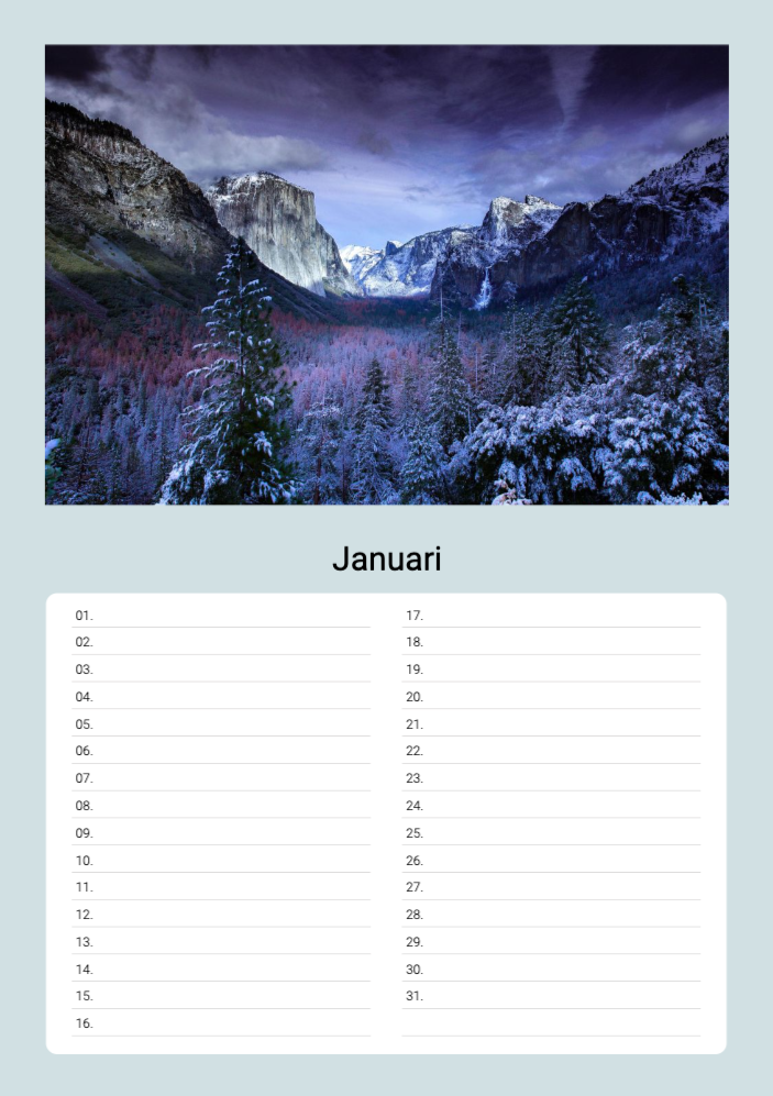 Birthday Calendars _ 01 _ L