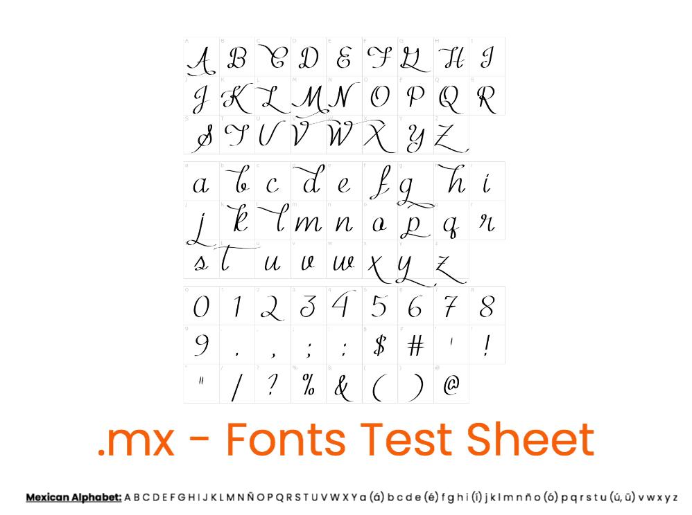 A-Fonts Template .mx