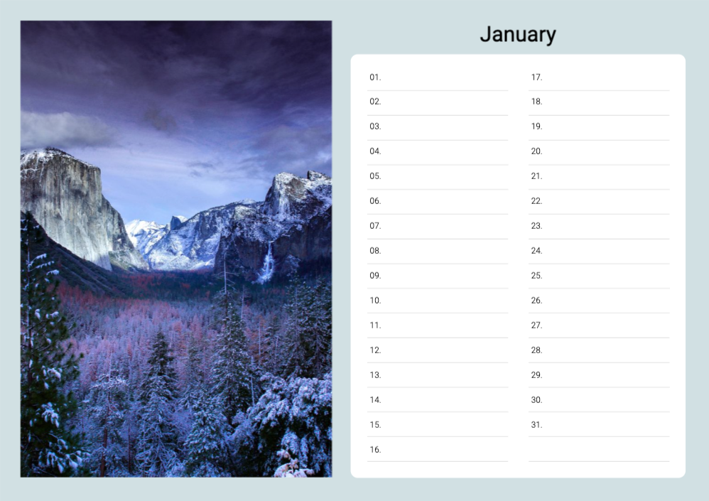 Birthday Calendars _ 02 _ P