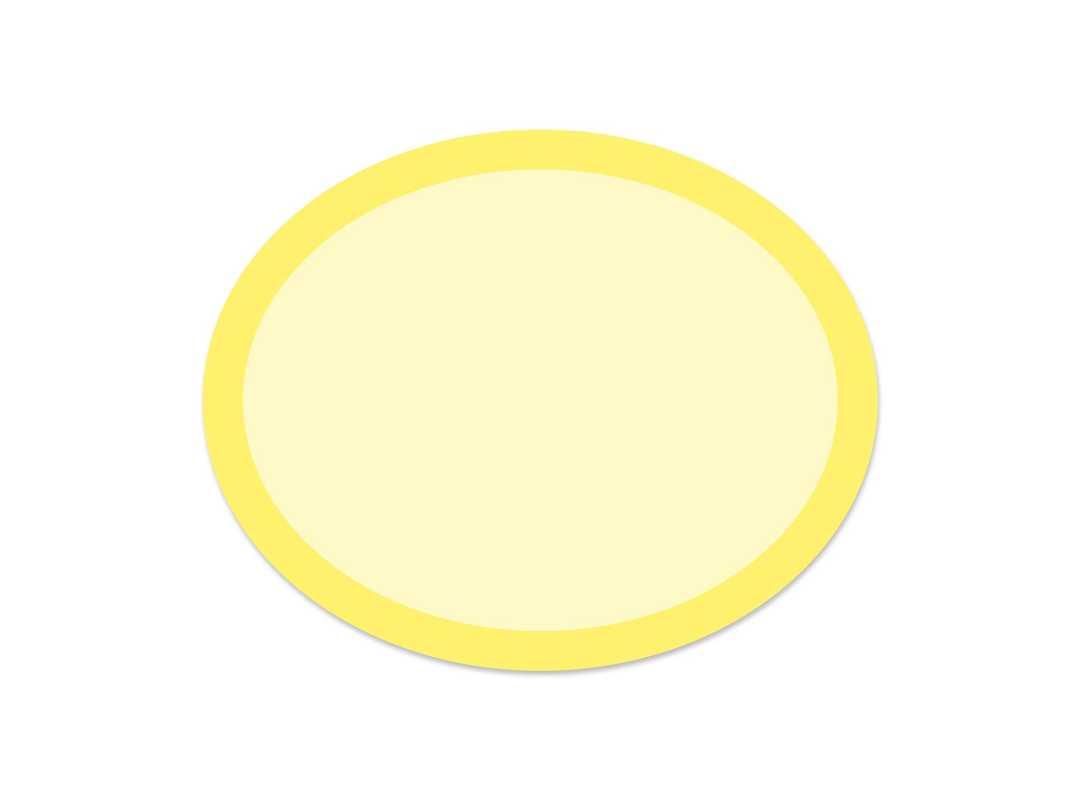 OVA006 - Yellow Rainbow Oval 28 p/s Label