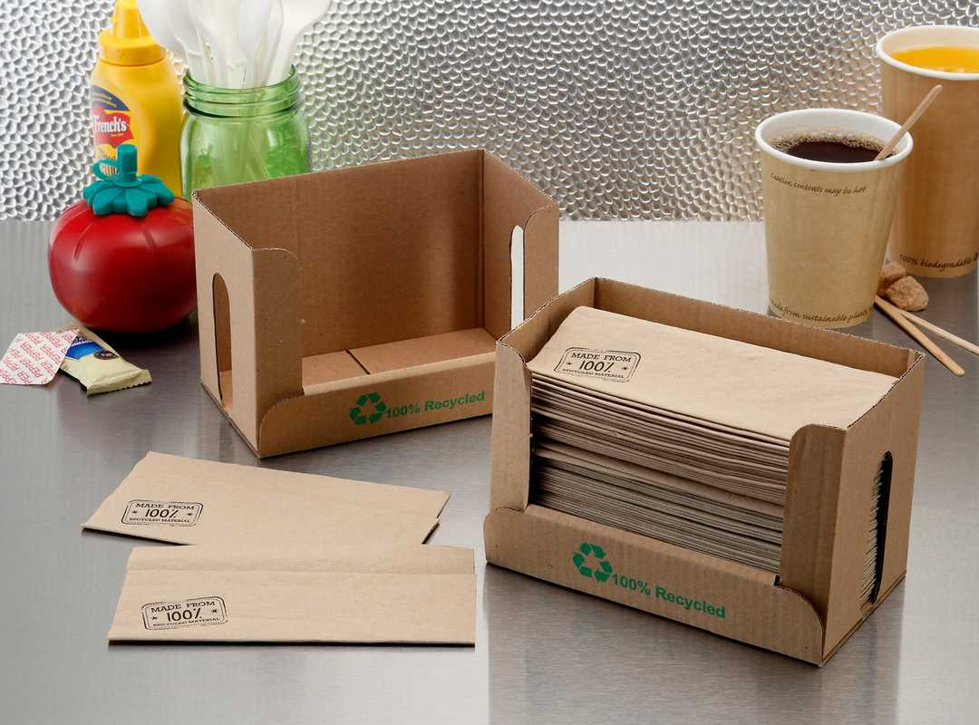 100% Recycled Napkin and Dispenser Kit image