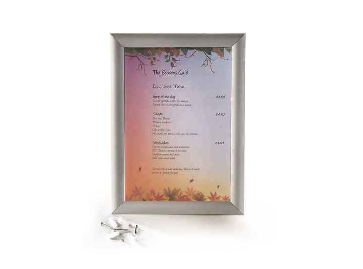 MEN008 - A4 Wall Mounted Anodised Grip Frame