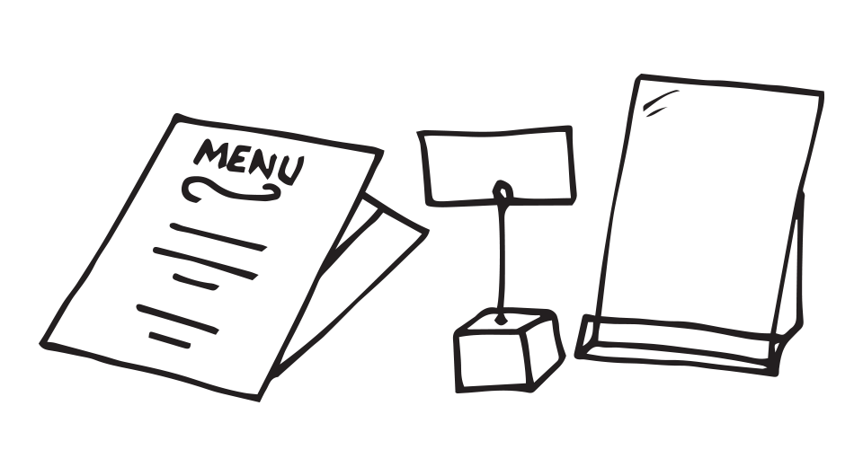 Menus, Menu Stands and Displays