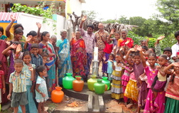 Bedusupalli community with new well