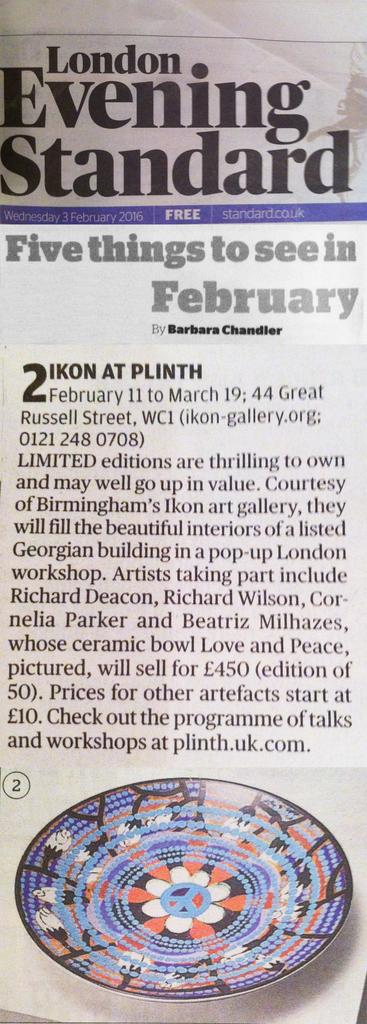 Evening standard 3 feb 2016