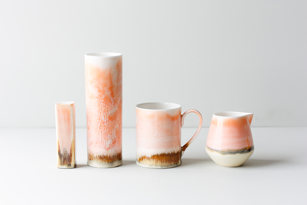 Pink landscapes for plinth  reiko kaneko ceramics london design festival 2016 ldf16 all that is broken is not lost studio glaze fine bone china  2 28856370023 o