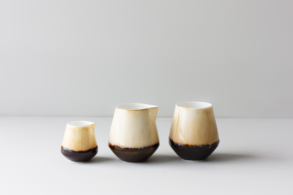 Sand glaze arctic jugs for plinth reiko kaneko ceramics london design festival 2016 ldf16 all that is broken is not lost studio glaze fine bone china  29444069116 o